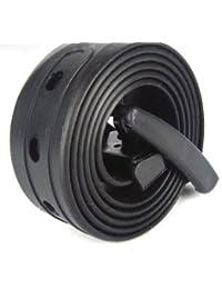 Yuhemii Unisex con Estilo Candy Colors Silicone Plastic Belts (Negro)
