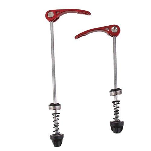 Hemore Importiert Paar Fahrrad Schnellspanner Hub Spieß Radfahren Rad Spieß Teile Rot