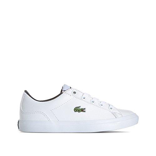 Lacoste Zapatillas de Material Sintético Para Niño, Color Blanco, Talla 38 EU Niño