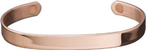 SQBRA Magnetschmuck, Kupfer-Magnetarmreif mit zwei 1800 Gauß starken Magneten, 99.9% reines Kupfer, S = passend für Handgelenksumfang von 14.5-16.5 cm