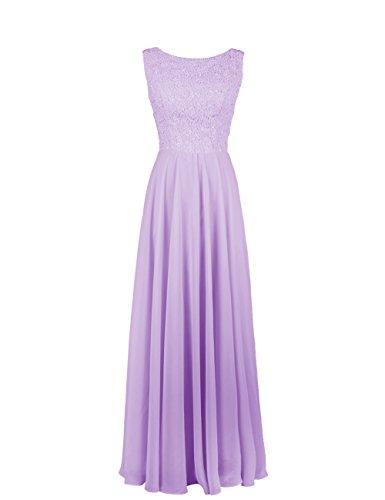 Dresstells Damen Prinzesskleid Chiffon Ärmellos DT90599 Lavender