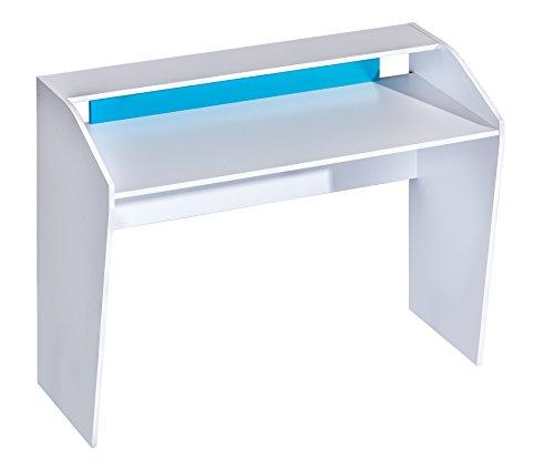 SMARTBett Schreibtisch Computertisch Desk 120 cm Farbauswahl Weiss/Blau