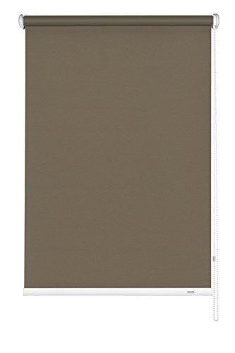 Gardinia Seitenzug-Rollo Zum Abdunkeln, Decken-, Wand- Oder Nischenmontage, Lichtundurchlässig, Alle Montage-Teile Inklusive, Mocca, 52 x 180 cm (BxH)