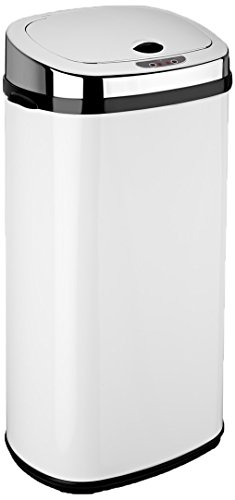 Dihl - Papelera con sensor (42 L, rectangular), color blanco