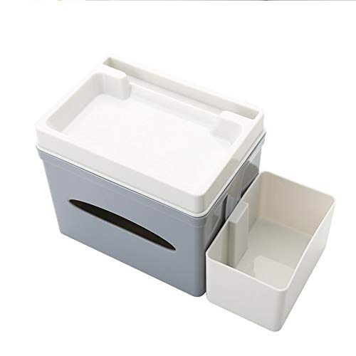XOSHX Kreative Multifunktionsschale Karton Home Fernbedienung Lagerung Snacks Melonensamen Lazy Artifact Put Handyhalter (Lila Lagerung Würfel)