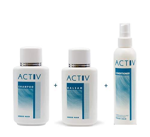 GFH ACTIV Perücken Pflegeset Shampoo 250 ml + Balsam 250 ml + Conditioner 200 ml
