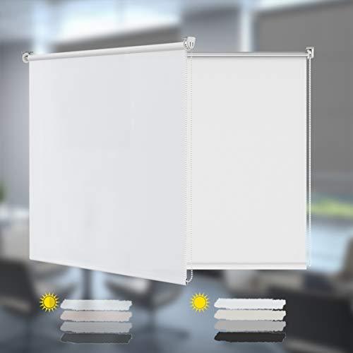Allesin Estor Enrollable Cortina Translúcido Paca para Ventanas y Puertas 50 x 150 cm Blanco Sin Necesidad de Perforar