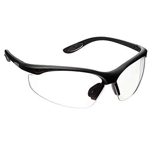 voltX \'Constructor\' Wraparound Sicherheitsbrillen/Radsport Sportbrillen (KLAR Keine Vergrößerung) CE EN166F Zertifiziert, Anti-Fog und Anti-Kratzer, UV400 Linse/Safety Glasses