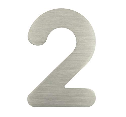 "nanook Hausnummer ""Arco"" - Edelstahl gebürstet - 15 cm - Nr. 2"