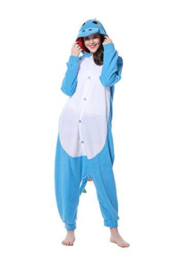 DAN SPEED - Anime Costume Cosplay Combinaison Grenouillères Vêtements de nuit (S(148-160cm), bleu dinosaure) (Veste Costume Dessin)