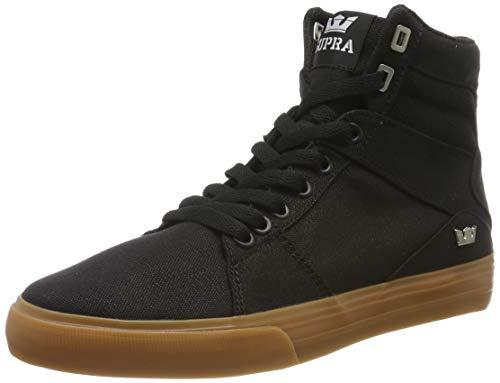 Supra Aluminum, Zapatillas de Skateboard Unisex Adulto, Negro Black-Gum-M 38, 36 EU