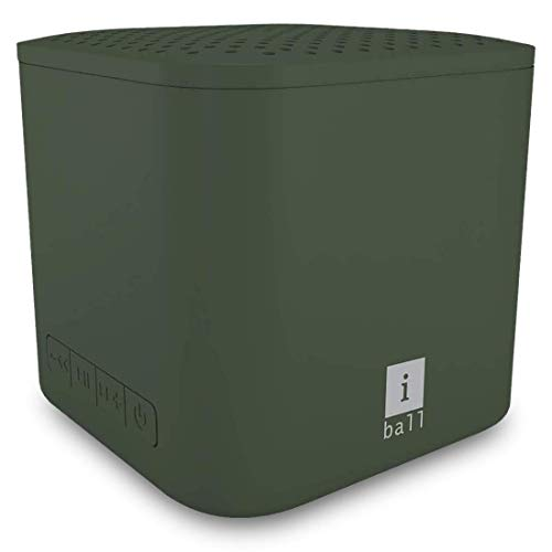 iBall Musi Play A1 Wireless Ultra-Portable Bluetooth Speakers with FM | Micro SD Card Slot & Built-in Mic (Olive Green)