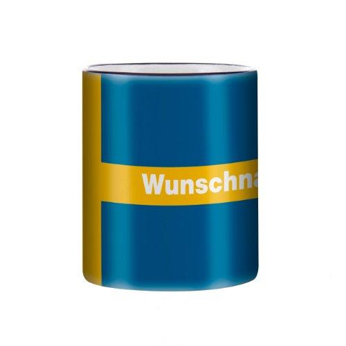 Herz & Heim® Tasse mit Wunschnamen und Flagge - Schweden -
