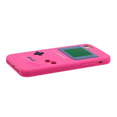"Étui de Protection Apple iPhone 7 Plus 5.5"", Souple Silicone Rubber iPhone 7 Plus Coque Case Dessin original Game Boy Playstation Apparence Serie Ultra Fine Style Poids léger Rose"