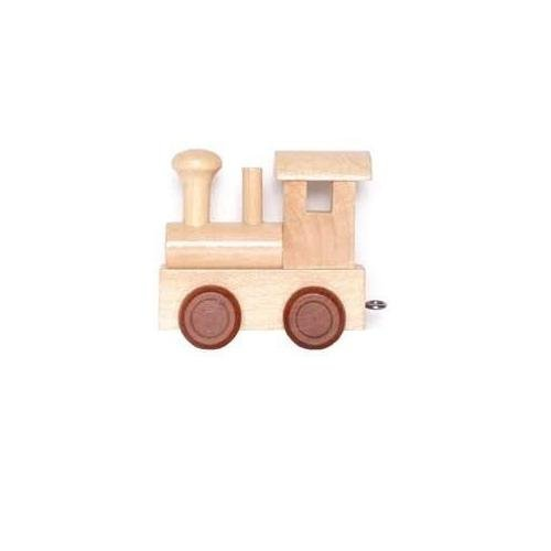 Legler - Handel Buchstabenzug - Holzeisenbahn - Wunschname - Namenszug aus Holz - Geschenke-Set (Locomotive) (Leichte Eisenbahn-set)