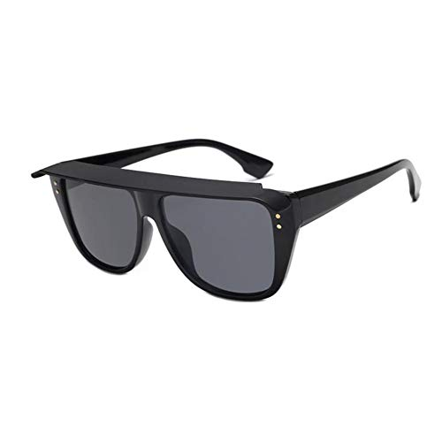 HYUHYU Unisex Platz Sonnenbrillen Flat Top Shades Für Frauen Herren Sonnenbrillen Luxus Mode Brillen Können Abnehmbare Gläser