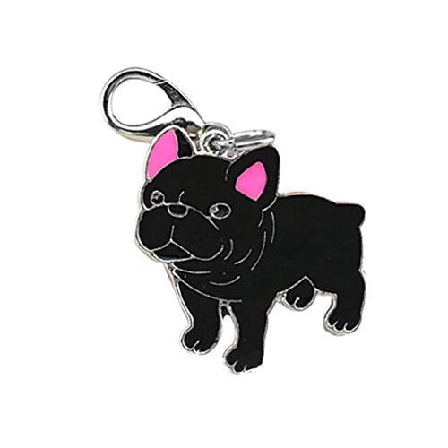gzzebo Haustier-ID-Tag/Hundehalsband, Metall, mit Verschluss, Schlüsselanhänger, Ornamente, Fellpflege-Zubehör, Metall, 9#