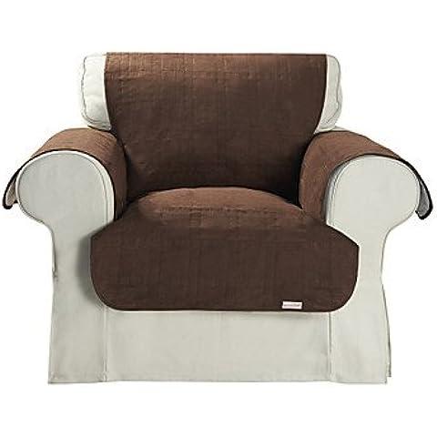 ZQ impermeabile marrone microsuede cubo solido copertura della sedia