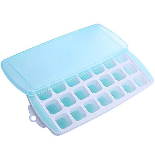 F Fityle Eiswürfelform Silikon Eiswürfelbehälter Eiswürfelbox Mit Deckel, 300 x 120 x 27 mm - Grün
