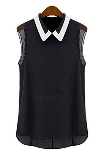 Camiseta o camisa, Challeng ropa de moda a la calle Las mujeres del verano sueltan la gasa ocasional del chaleco...