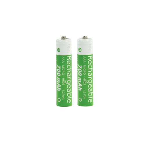 2er Pack Wiederafladbare Batterie Ersatzakku NIMH 700mAH Akku AAA für Telefon Gigaset