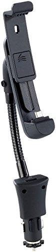 Callstel Handy Schwanenhals: Kfz-Smartphone-Schwanenhals-Halterung, USB-Ladeport, Micro-USB-Stecker (Handyhalterung Auto Schwanenhals)