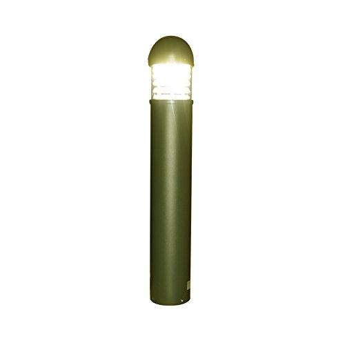Vision-EL 770803 Potelet Transparent 230V 25W 3000°K IP65 Rond, Aluminium, 25 W, Gris, (H x Ø)-1018 x 167 mm