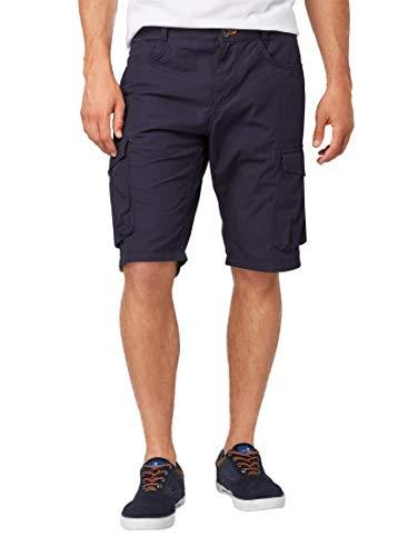 Canvas-loose-fit-jeans (TOM TAILOR Casual Herren Cargo Shorts, Blau (Knitted Navy 10690), W(Herstellergröße: 34))