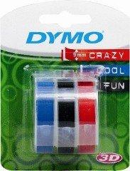 Dymo Embossing Tape verschiedene Farben, 3Stück