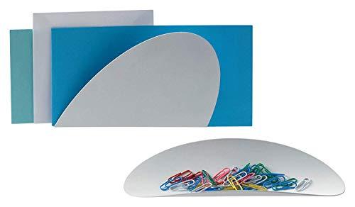 Alessii Top Shop ABI09S Set Composto da Due Contenitori Centrotavola Portalettere in Acciaio Colorato con Resina Epossidica, Bianco 2 unità