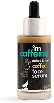 mCaffeine Naked & Raw Coffee Face Serum | Sun Protection | Hyaluronic Acid, Vitamin E | All Skin | Paraben