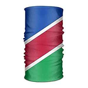 longkouishilong Kopfbedeckungen Flag of Namibia Headwear Bandanas Seamless Headscarf Outdoor Sport Headdress Running Riding Skiing Hiking Headbands
