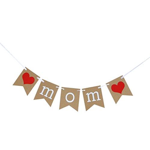 (MagiDeal Papier Girlande Banner Muttertag Girlande Dekoration Muttertag Party - Love MOM)