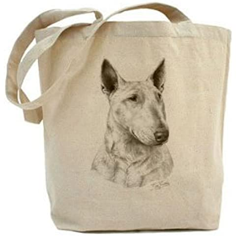 Mike Sibley Inglés Bull Terrier lienzo algodón Natural Shopper Tote Bag
