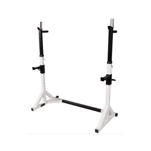 Professioneller verstellbarer Kniebeugenständer / Free Rack / Langhantel Ablage inkl. Dips-Barren BCA-29