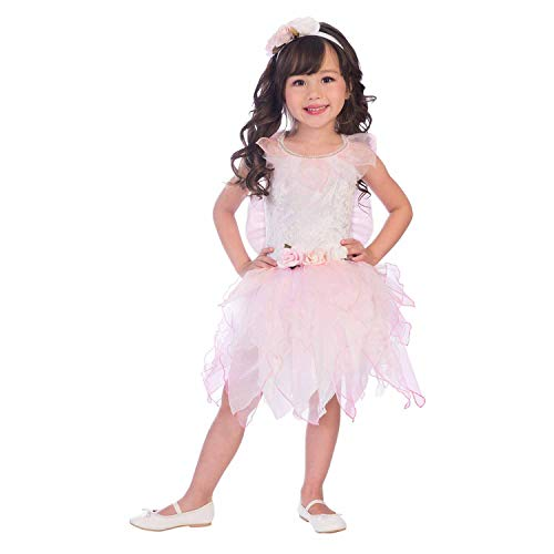 amscan- Rose Fairy 6-8 Years Disfraz, Color rosa (9904097)