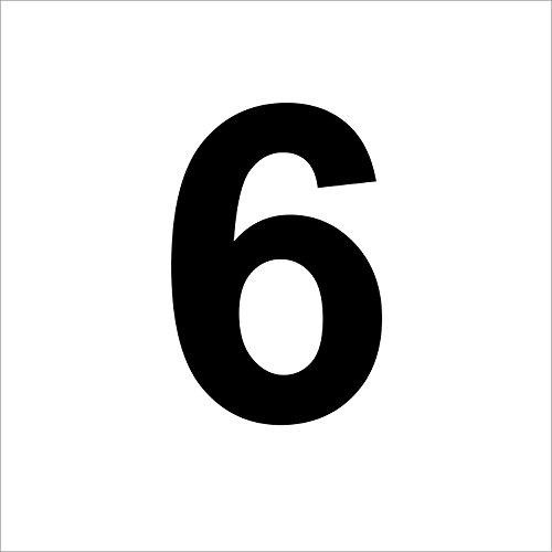 """Preisvergleich Produktbild 3 mal Nummer """"6 """" hochwertige Zahlenaufkleber, schwarz, wetterfeste, 10 cm hoch, aus Hochleistungsfolie, ohne Hintergrund, Zahlen, Nummer, Mülltonne,Mülltonnen, Uahlenaufkleber, Hausnummer, Briefkasten, Aufkleber"""