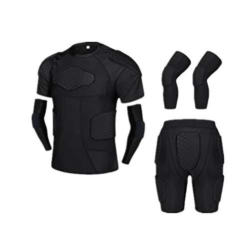 Aihifly Motorrad Vollkörper Rüstungsschutz Adult Football Basketball Knieschützer Ellenbogen Sport Kampf Schutzausrüstung Reiten bruchsicher Kleidung Rüstung Kleidung Anzug (Farbe : A, Größe : XXL)