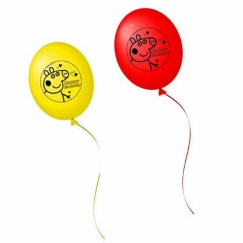 peppa pig party latex balloon 10 pack peppa pig party supplies amazoncouk kitchen u0026 home