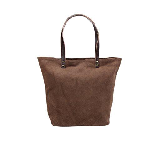"""Slingbag """"stella III XL Shopper/borsa a tracolla in vera pelle scamosciata/scelta di colori, Beige (grigio) - Stella III beige Beige"""