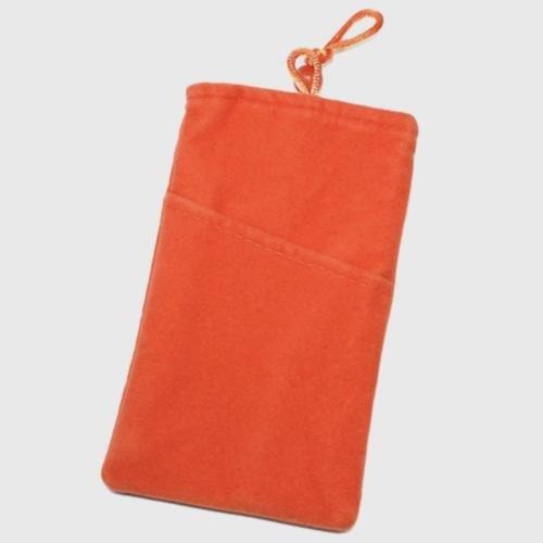 Schutzhülle Tasche Aspekt Velour Orange XXL für Alcatel One Touch Idol 3(4.7)