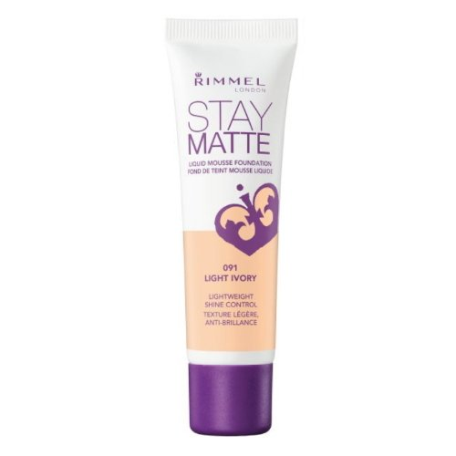 (3 Pack) RIMMEL LONDON Stay Matte Liquid Mousse Foundation - Light Ivory