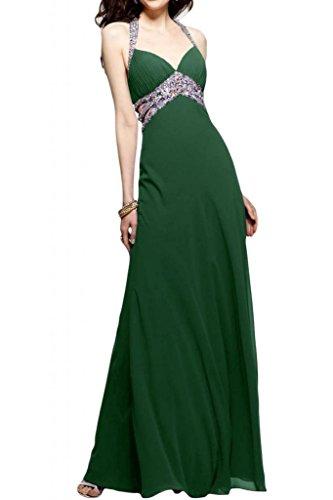 Toscana sposa Chic Chiffon Rueckenfrei stanotte vestimento un'ampia Party ball abiti da sera per mode Dunkel Gruen