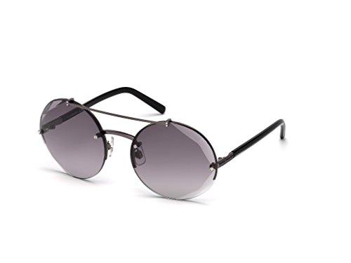 Occhiali da sole swarovski sk0133 c60 08b (shiny gumetal / gradient smoke)
