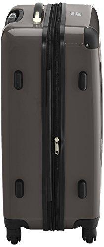 HAUPTSTADTKOFFER - Alex - 2er Koffer-Set Hartschale glänzend, TSA, 65 cm, 74 Liter, Aubergine-Silber Graphit-Weiß