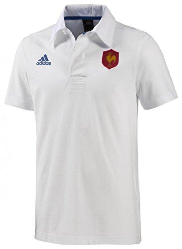 490fc883e2c Adidas Francia Rugby blanco Polo