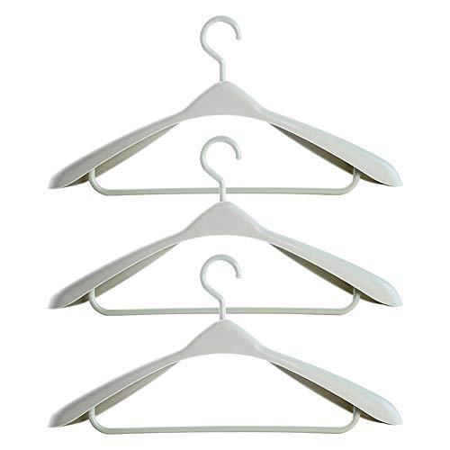 Breite Schulter Kleiderbügel (Fablcrew HellFettes Trockengestell aus Kunststoff Anti-Rutsch-Kleiderbügel für Erwachsene Nahtloser, breiter Schulter-Kleiderbügel 3er)