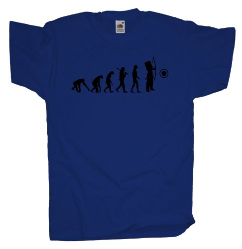 Ma2ca - Evolution - Bogenschütze Bogenschiessen T-Shirt Royal