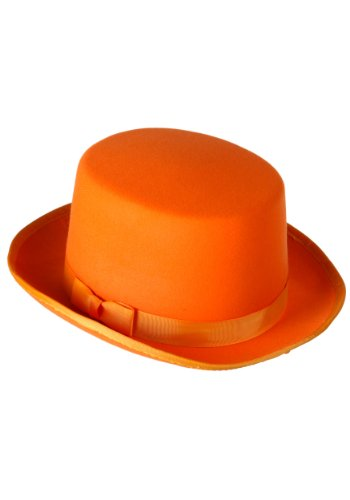 FUN Costumes Orange Tuxedo Top Hat Standard