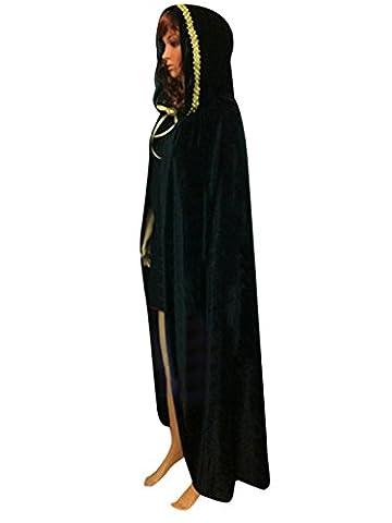 Unisex Halloween Kostüm Deko Crushed Velvet Rollespielen Cosplay Cape mit Kapuzen